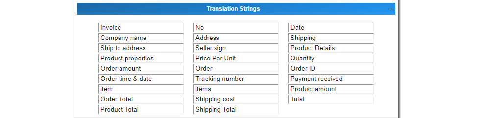 Ali Invoice Translation Strings