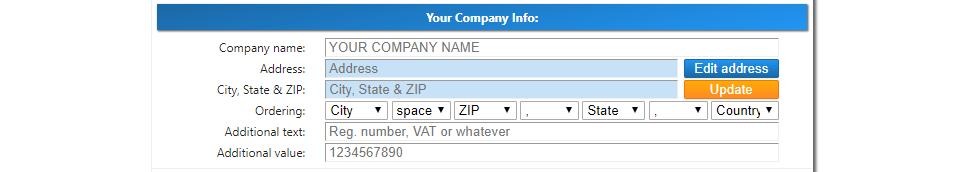 Ali Invoice - Your Company Info