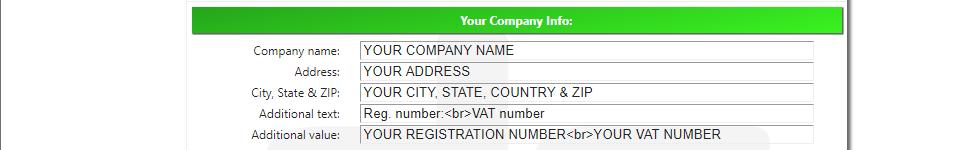 Ali Invoice FREE - Your Company Info