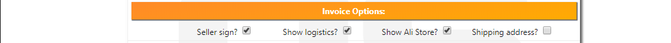Ali Invoice FREE General Options